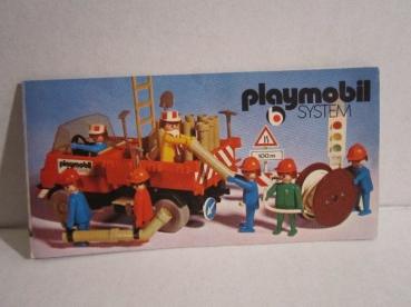 playmobil flyer werbeflyer bau 70er jahre collectibles. Black Bedroom Furniture Sets. Home Design Ideas