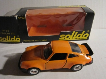 SOLIDO Modellauto Porsche 911 Turbo orange 1/43 OVP
